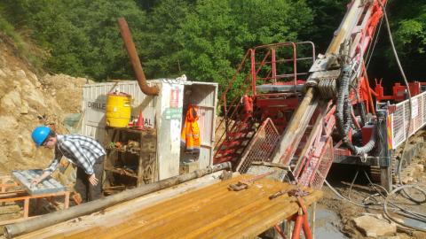 Drilling at Rudnik Rudnik